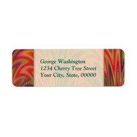 Bold Red Orange Green Purple Electrifying Abstract Label