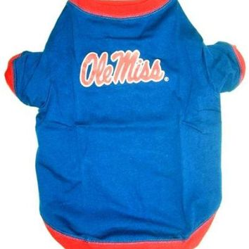 ONETOW Mississippi Ole Miss Pet Shirt MD