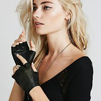 Free People Womens Henna Etched Driver Glove
