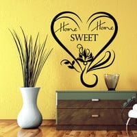 Wall Decal Quotes Home Sweet Home Lotus Flower Yoga Heart Design Decals Living Room Bedroom Hotel Hostel Window Stickers Home Decor 3764