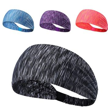 Hot sale  Wide Sports Headband bandanas Stretch Elastic Yoga Running Headwrap Hair Band Breathable durable quick-drying