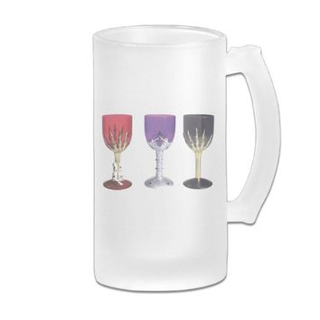 HTVDOY Beer Glass Frosted Glass Plastic Glass Beer Mugs Great For Coffee,Wine,Beer,Juice,Whiskey Or Any Cold Drinks