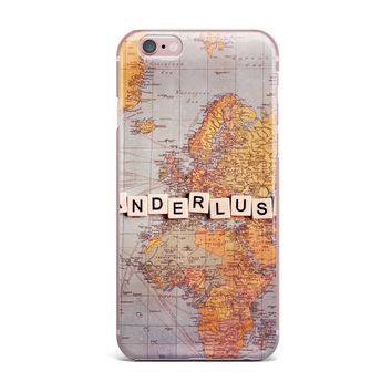 "Sylvia Cook ""Wanderlust Map"" World iPhone Case"