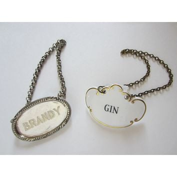 Hammersley Co England Gilt Decorated Gin Brandy Bottle Tags