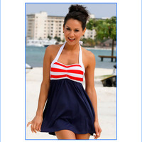 Sailor Girl Two Piece Swim Dress