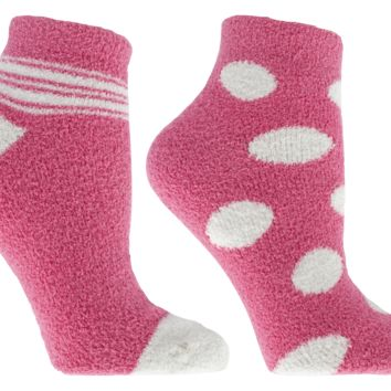 2-Pair Pack Therapeutic Oil Infused Spring Fusion Non-Slip Socks, Rose, by MinxNY