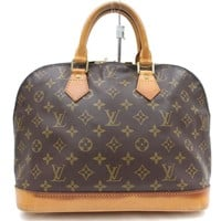 Authentic Louis Vuitton Hand Bag Alma M51130 Browns Monogram 16778