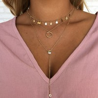Circle of Love Gold Layered Necklace