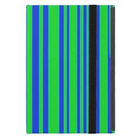 Blue and Green Stripes Cover For iPad Mini