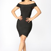 Karyssa Bandage Dress - Black