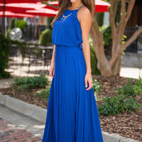 Perfectly Pleased Maxi Dress, Royal Blue