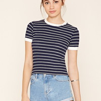 Stripe Ribbed Ringer Tee