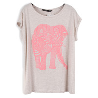 Elephant Stretch-cotton T-shirt