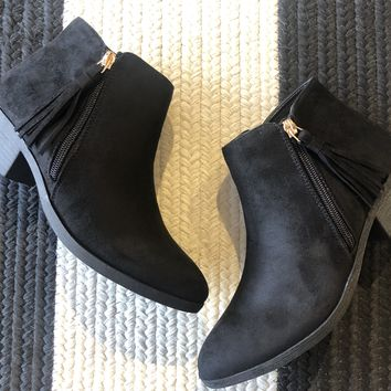 Zoey Booties in Black
