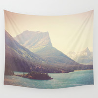 Retro Glacier Wall Tapestry by Kurt Rahn