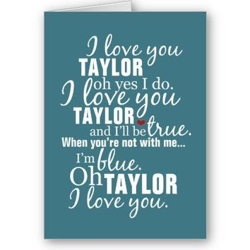 Personalized I Love You Greeting Card!