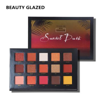 BEAUTY GLAZED Shimmer Nature Glow Eyeshadow Palette Portable Makeup Cosmetics Nude Eye Shadow powder Waterproof Makeup Set