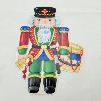 Vintage Nutcracker Diecut Christmas Cut Out