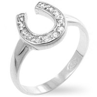 .925 Sterling Silver Horseshoe Ring