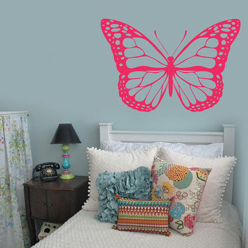 Butterfly Wall Decals | Monarch Butterfly Wall Decal Girl's Bedroom Decor