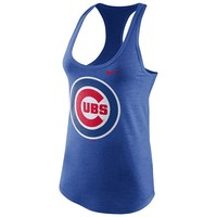 Nike Chicago Cubs Large Logo Tri-Blend Tank - Women's, Size: