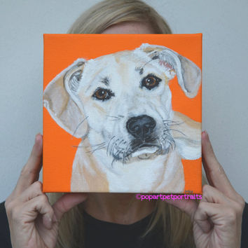 Dog painting Custom Pet Painting Pet Portrait  Dog portraits Dog art  Custom Pet Portrait