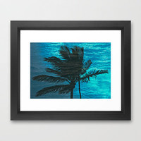 Swimming Palm Framed Art Print by catspaws | Society6
