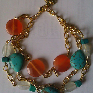 Bohemian Layered Jewel Crystal and by allthingswildandfree on Etsy