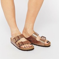 Birkenstock Arizona Magic Galaxy Bronze Flat Sandals
