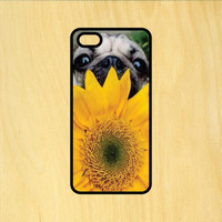 Sunflower Pug Phone Case iPhone 4 / 4s / 5 / 5s / 5c /6 / 6s /6+ Apple Samsung Galaxy S3 / S4 / S5 / S6