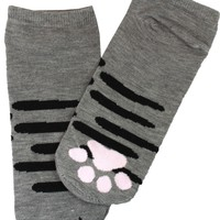I'm A Gray Cat Cute Cat Paw Socks (Gray)
