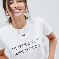 ASOS DESIGN T-Shirt With Perfectly Imperfect Print at asos.com