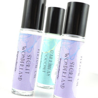 Secret Wonderland Perfume Oil - Raspberry, Amber, Vanilla, Coconut, Jasmine - Roll On Perfume