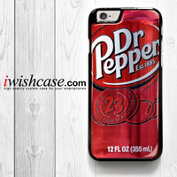 Dr Pepper for iPhone 4 4S 5 5S 5C 6 6 Plus , iPod Touch 4 5  , Samsung Galaxy S3 S4 S5 S6 S6 Edge Note 3 Note 4 , and HTC One X M7 M8 Case