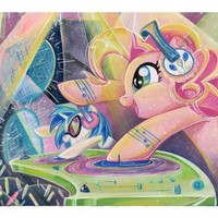 My Little Pony Friendship is Magic Pinkie Pie and DJ Pon-3 Lithograph by Sara Richard