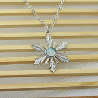 Once Upon A Time Show Snowflake Elsa Necklace