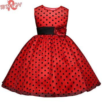 Children Princess Girls Party Wear Fancy Kids Evening Events Dresses Flower Girls Wedding Gown Teenage Girl Clothing 8 10 Years