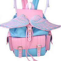 wing pastel pink blue kawaii backpack