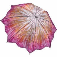 "Amazon.com: "" Chrysanthemum "" - Galleria Folding Compact Umbrella Auto Open /Auto Close: Clothing"