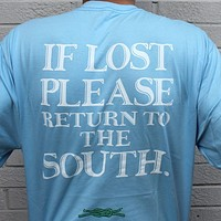 Return to the South Pocket Tee in Light Blue by Knot Clothing & Belt Co.