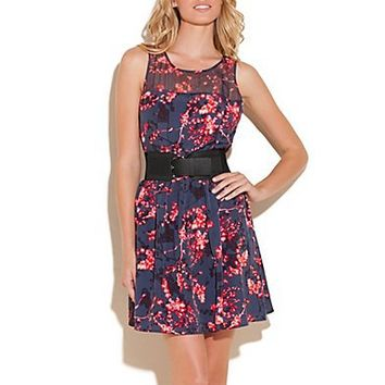 Tasha Dress in Sakura Print at Guess