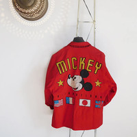 80s Women's vintage Walt Disney Micky red jacket