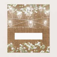 Baby's Breath Rustic Burlap Wedding Name Place Card