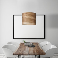 Hanging Wood Lamp, Housewarming gift, Unique Lamps, Scandinavian Style Lamps, Chestwood Veneer Lamp Shade, Modern Lamp, Design Lamps, KRIST