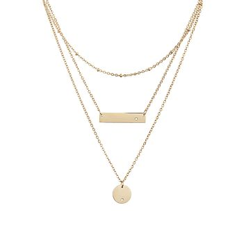 Triple Strand Necklace - Gold