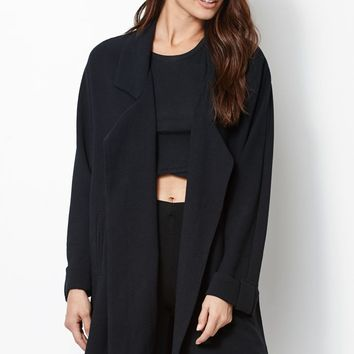 Kendall & Kylie Oversized Trench Coat - Womens Jacket - Black