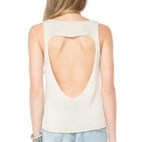 Brandy ♥ Melville |  Heart Cut-Out Tank - Clothing