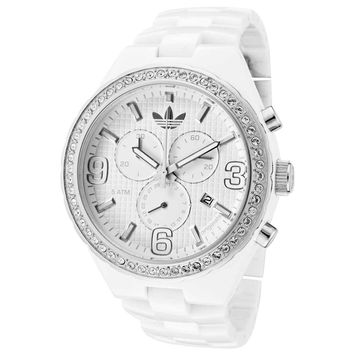 Adidas ADH2515 Unisex Nylon Cambridge Plastic Strap White Dial Crystal Chronograph Watch