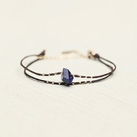 Marida Womens Waxed Cord Bracelet - Lapis, One