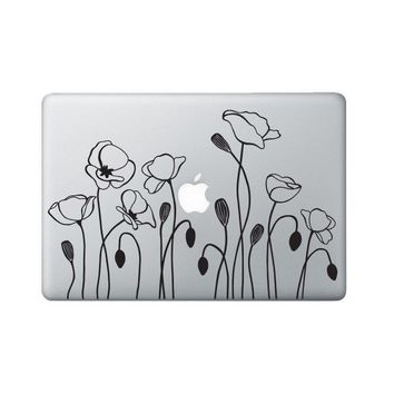 Poppy Flower Laptop Decal - Flower Macbook Decal - California Poppy Flower Decal